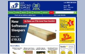 Preview 3 of the AVS Fencing Supplies website