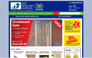 Preview 4 of the AVS Fencing Supplies website