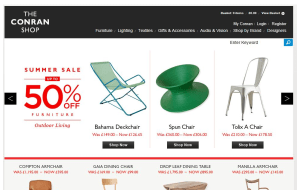 Preview 2 of the Conran Shop website