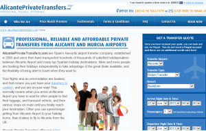 Preview 3 of the Alicante Private Transfers website