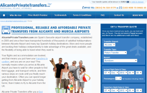 Preview 2 of the Alicante Private Transfers website