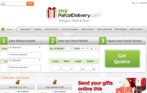 Preview 2 of the My Parcel Delivery website