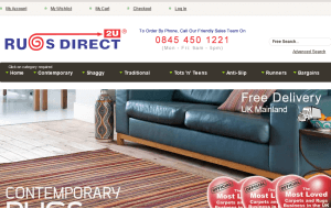 Preview 3 of the Rugs Direct 2U website
