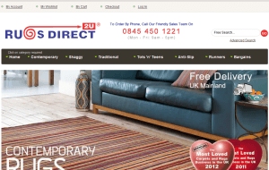 Preview 2 of the Rugs Direct 2U website
