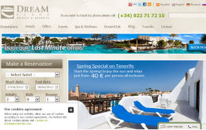 Preview 3 of the Dream Place Hotels & Resorts website