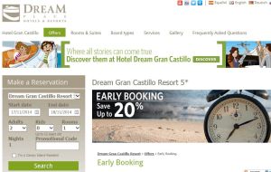 Preview 4 of the Dream Place Hotels & Resorts website