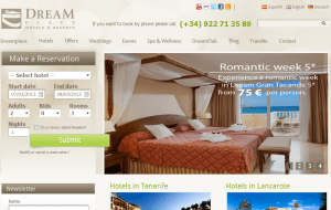 Preview 2 of the Dream Place Hotels & Resorts website