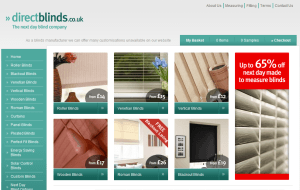 Preview 2 of the Direct Blinds website