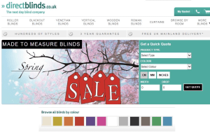 Preview 4 of the Direct Blinds website
