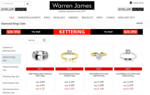 Preview 3 of the Warren James website