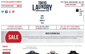 Preview 3 of the Tokyo Laundry website