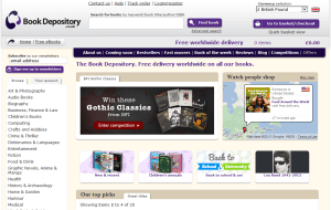 Preview 2 of the Book Depository website