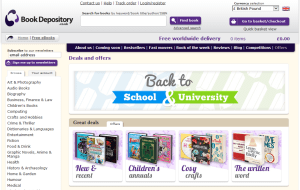 Preview 3 of the Book Depository website
