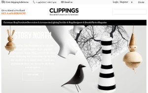 Preview 2 of the Clippings website