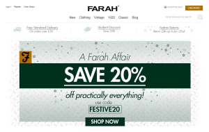 Preview 2 of the Farah website