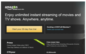 Preview 2 of the Amazon Instant Video website