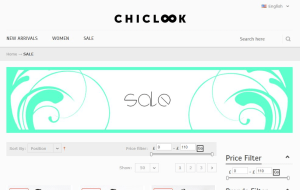 Preview 2 of the Chiclook website