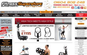 Preview 2 of the Fitness Superstore website