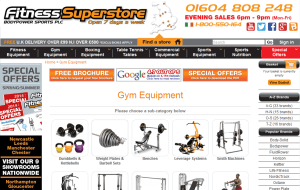 Preview 3 of the Fitness Superstore website