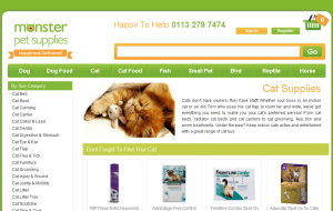 Preview 3 of the Monster Pet Supplies website
