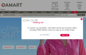 Preview 2 of the Damart website