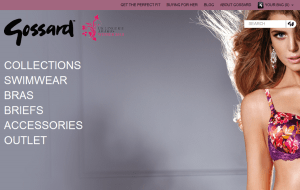 Preview 2 of the Gossard website