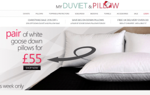 Preview 2 of the My Duvet and Pillow website