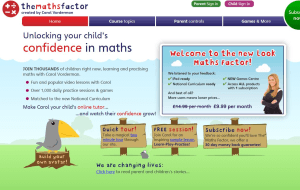 Preview 2 of the Carol Vorderman Maths Factor website