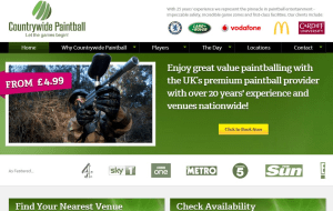 Preview 2 of the Countrywide Paintball website