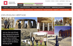 Preview 2 of the English Heritage Membership website