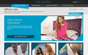 Preview 2 of the Primark website