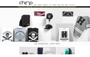 Preview 2 of the Chimp Store website