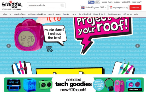 Preview 2 of the Smiggle website