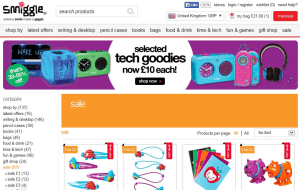 Preview 3 of the Smiggle website