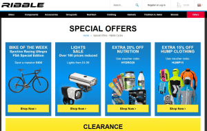 Preview 2 of the Ribble Cycles website