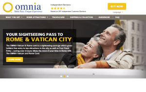 Preview 2 of the Rome & Vatican Pass website
