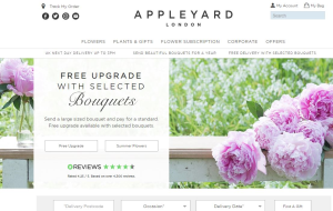 Preview 2 of the Appleyard Flowers website