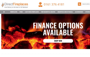Preview 2 of the Direct Fireplaces website