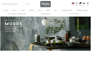 Preview 2 of the Denby Pottery website