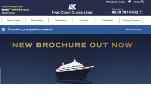 Preview 2 of the Fred. Olsen Cruise Lines website