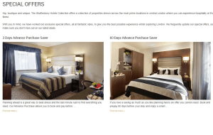 Preview 2 of the Shaftesbury Hotels Collection website